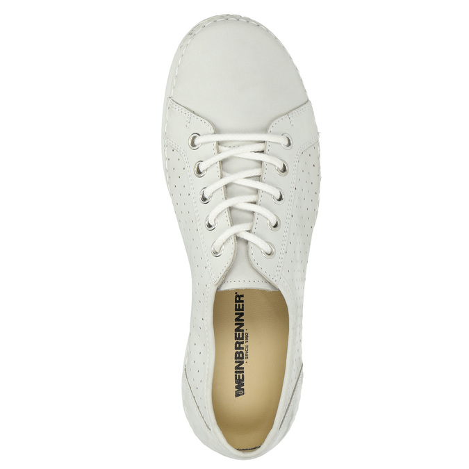 Ladies' casual leather shoes weinbrenner, gray , 546-1602 - 19