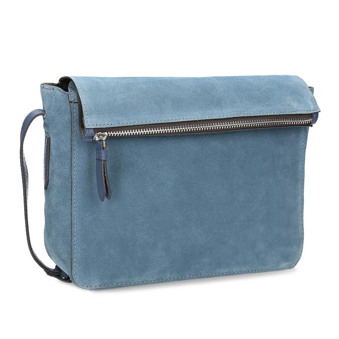 Blue leather crossbody handbag bata, blue , 963-9127 - 13