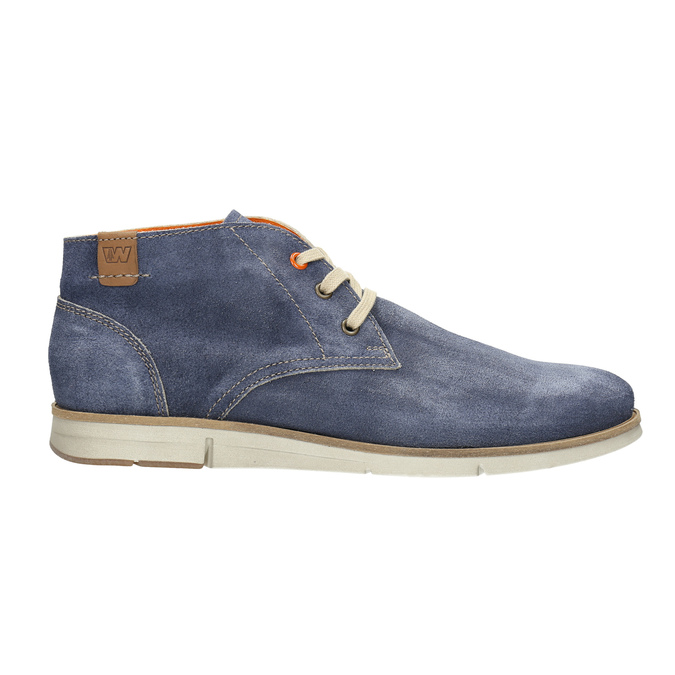 Brushed leather ankle boots weinbrenner, blue , 843-9625 - 15