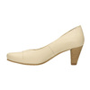 Leather pumps on a tapered heel bata, beige , 624-1600 - 19