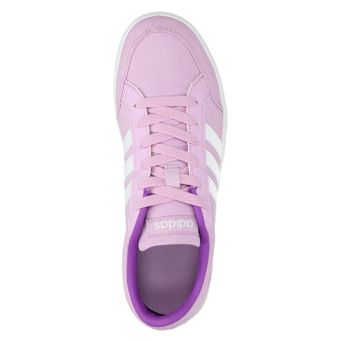 Girls' purple sneakers adidas, violet , 489-9119 - 19