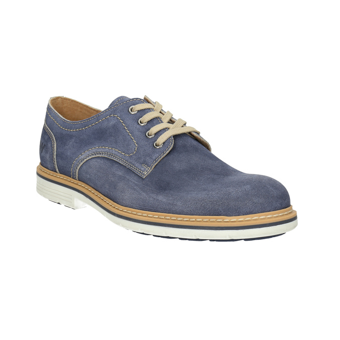 Leather shoes on a contrasting sole weinbrenner, blue , 823-9607 - 13