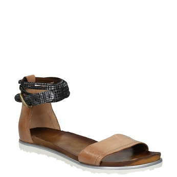 Ladies' sandals with contrasting strap bata, brown , 566-3603 - 13
