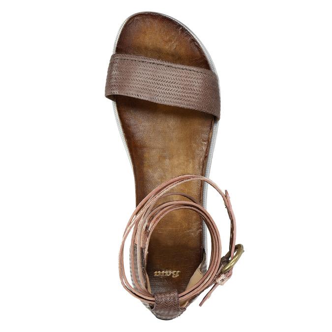 Ladies' leather sandals bata, brown , 566-4603 - 19
