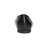 Pointed leather ballet pumps bata, black , 524-6604 - 17