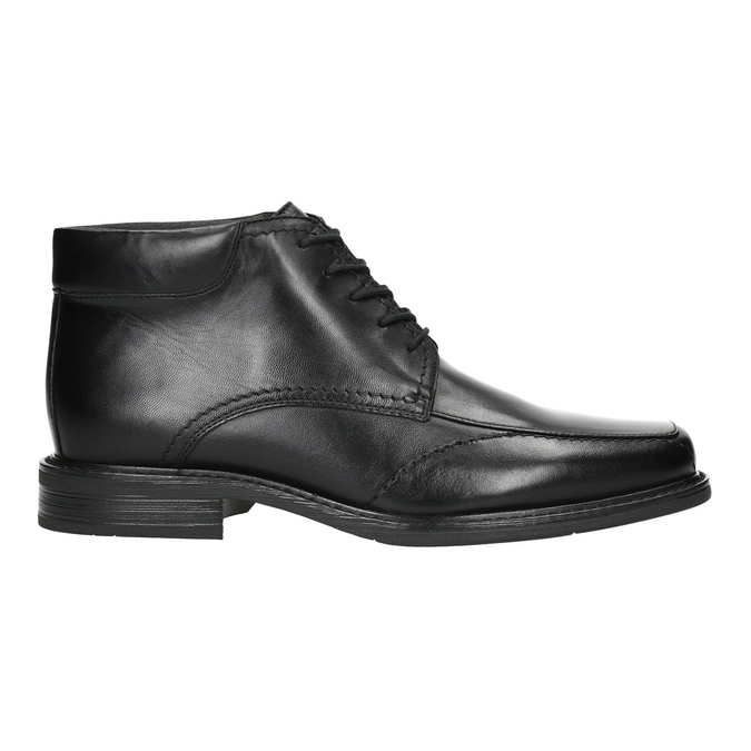 Insulated leather ankle boots, black , 894-6640 - 15