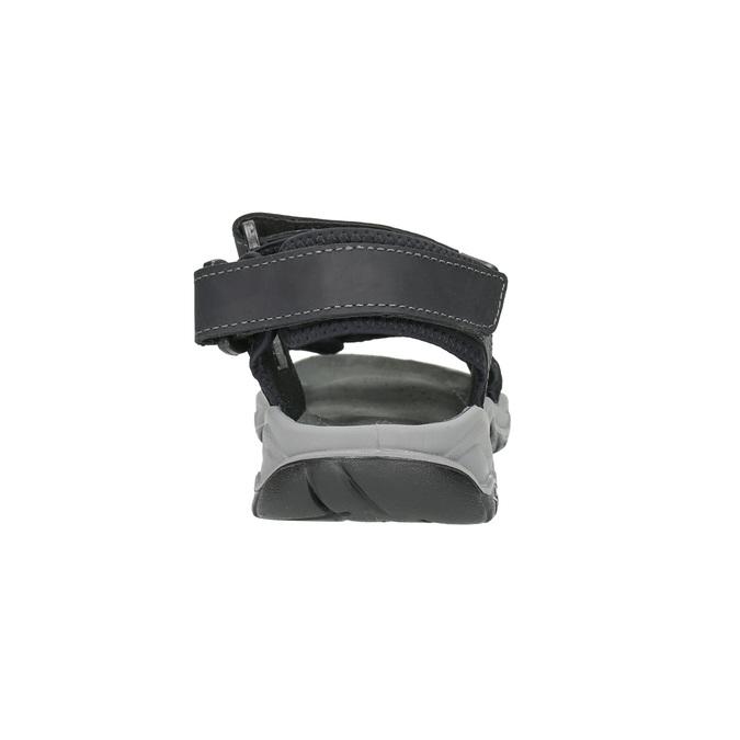 Men's leather sandals weinbrenner, black , 866-6630 - 17