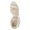 Heeled lace-up sandals insolia, beige , 769-1613 - 19