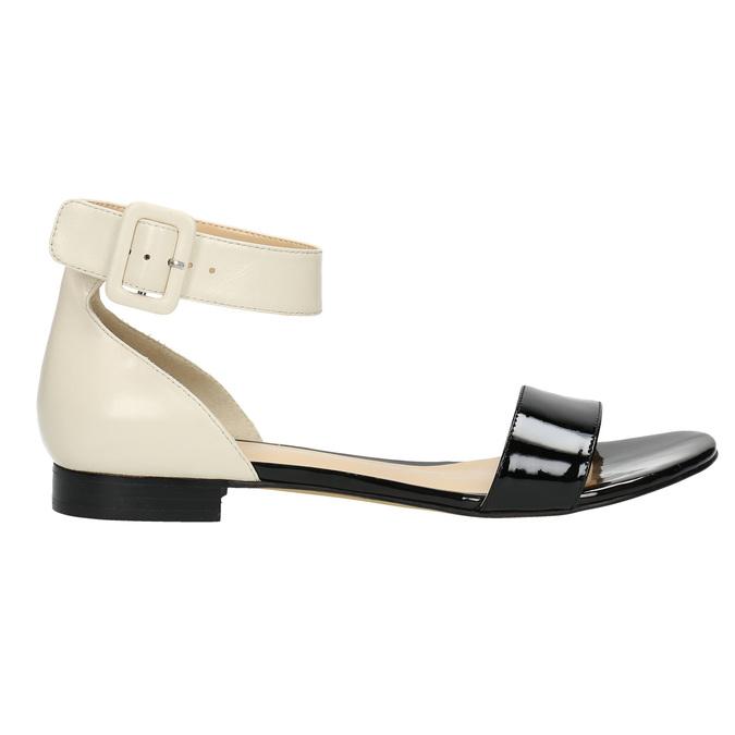 Patent leather sandals bata, black , 568-6606 - 15