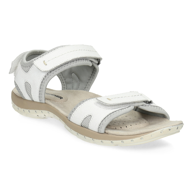 Ladies' leather sandals weinbrenner, white , 566-1608 - 13