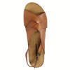 Ladies' interlacing leather sandals weinbrenner, brown , 566-4628 - 19