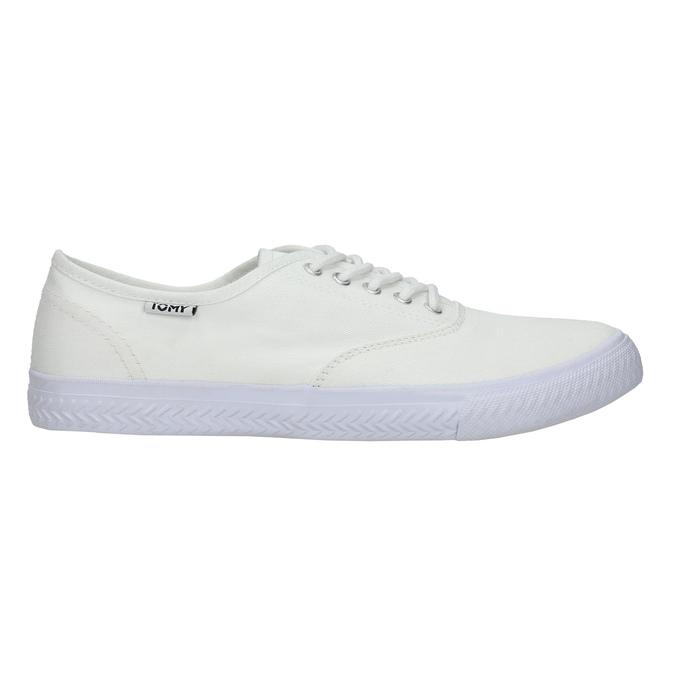White casual sneakers tomy-takkies, white , 889-1227 - 15
