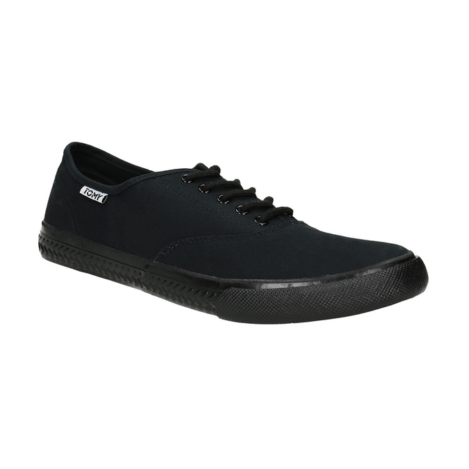 Men's black sneakers tomy-takkies, black , 889-6227 - 13