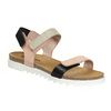 Ladies' leather sandals with Velcro fasteners weinbrenner, pink , 566-3630 - 13