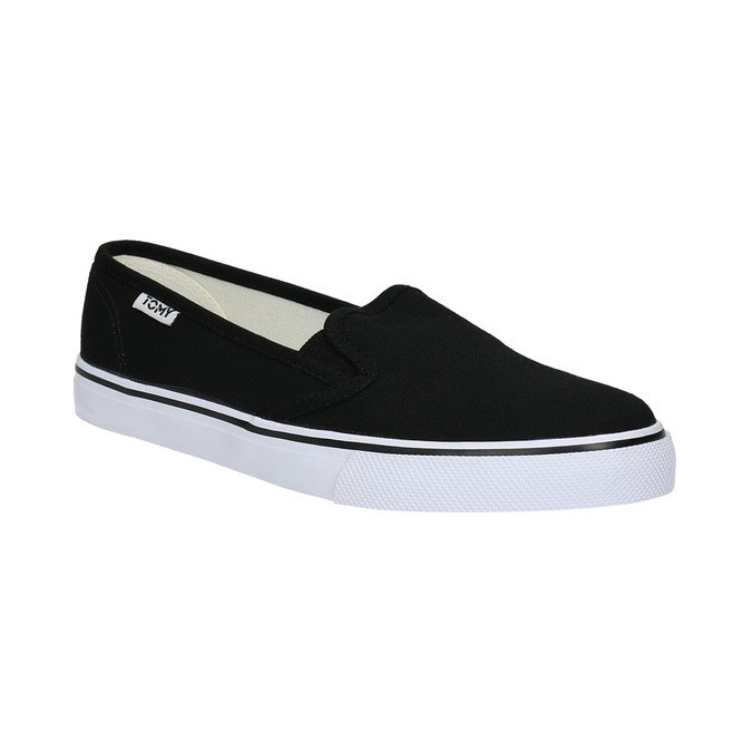 Ladies' black slip-ons tomy-takkies, black , 589-6170 - 13