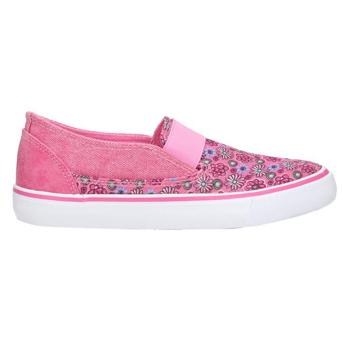 Girls' patterned slip-ons mini-b, pink , 329-5611 - 15