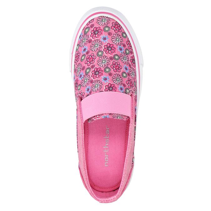 Girls' patterned slip-ons mini-b, pink , 329-5611 - 19