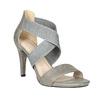 Ladies' heeled sandals bata, gray , 761-2614 - 13