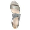 Ladies' heeled sandals bata, gray , 761-2614 - 19