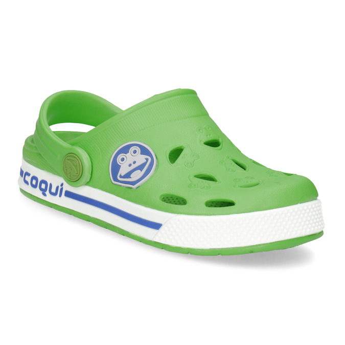 Children's green sandals coqui, green, 272-7603 - 13