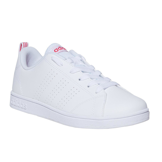 Kids' white sneakers adidas, white , 401-5133 - 13