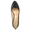 Ladies' leather pumps, black , 724-6649 - 19