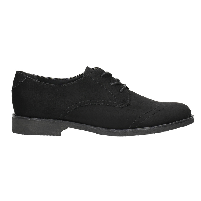 Ladies' shoes with stitching bata, black , 529-6632 - 15