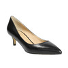 Ladies' leather pumps bata, black , 624-6640 - 13