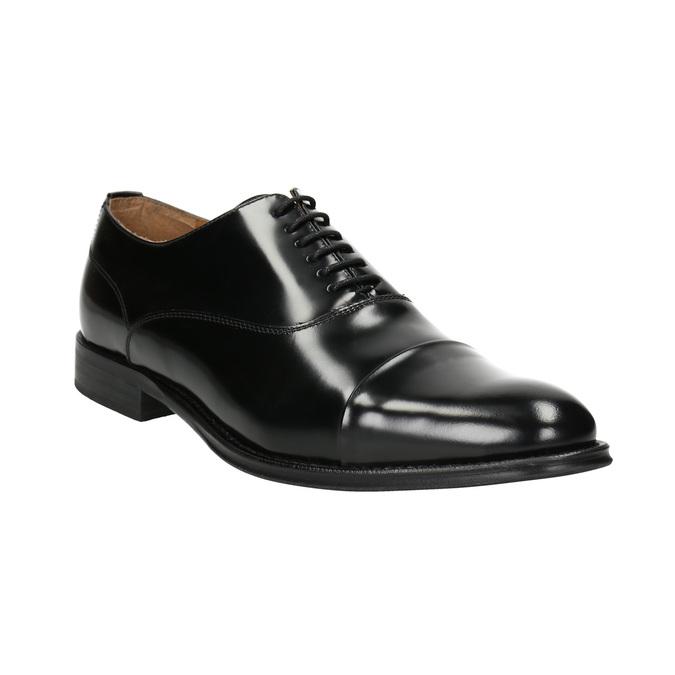 Black leather Oxford shoes bata, black , 826-6671 - 13