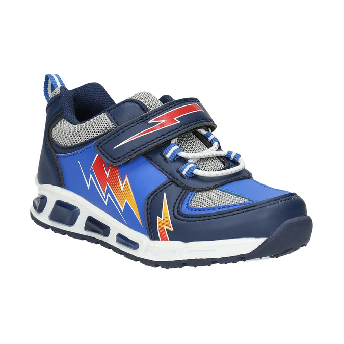 Boys' sneakers with print mini-b, blue , 211-9183 - 13