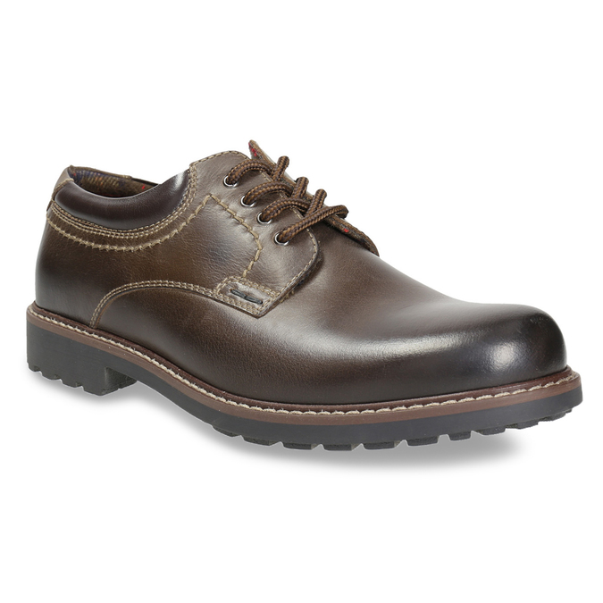 Men's leather shoes bata, brown , 826-4619 - 13