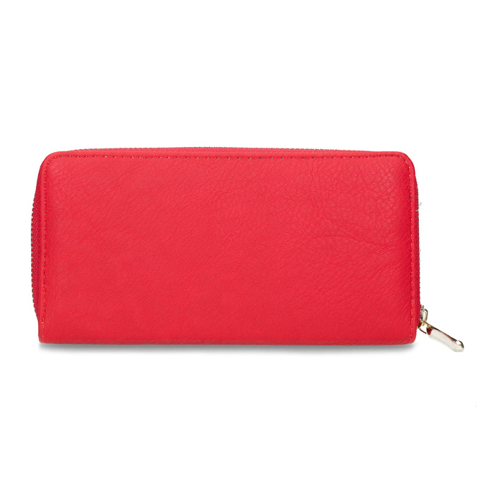 Red ladies' wallet bata, red , 941-5180 - 16