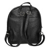 Black leather backpack bata, black , 964-6240 - 16