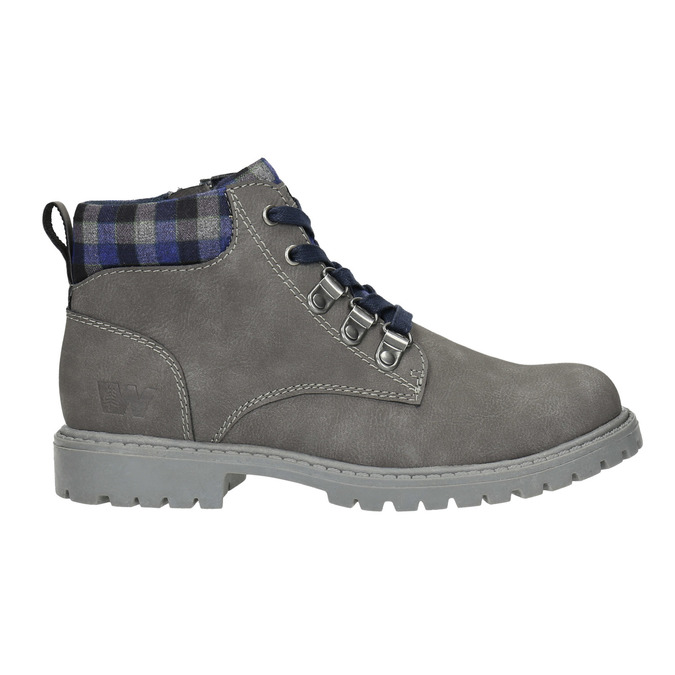 Children's winter ankle boots weinbrenner-junior, gray , 411-2607 - 15