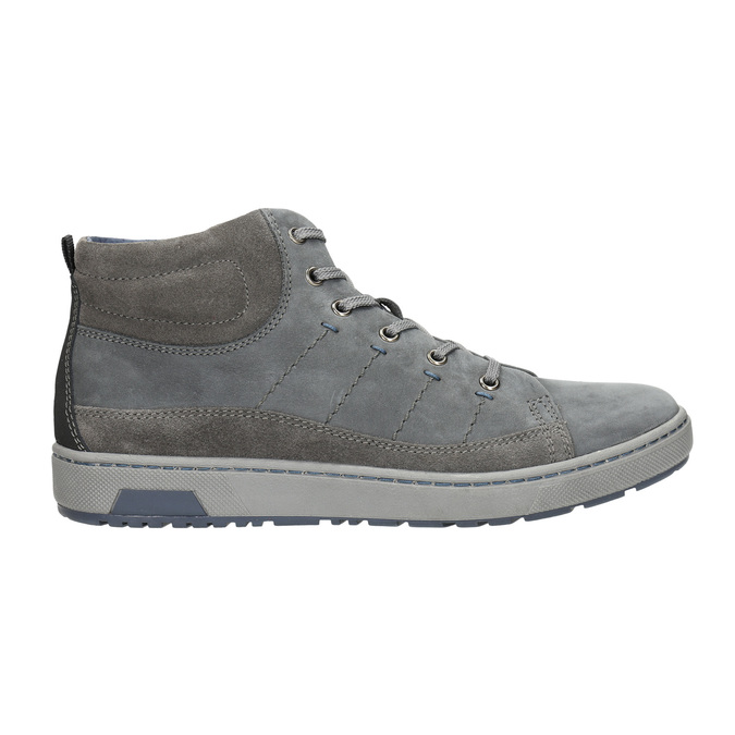 Men's ankle sneakers bata, gray , 846-2651 - 15