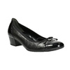 Leather pumps on a low heel gabor, black , 626-6116 - 13