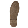 Brown stitched leather shoes bata, brown , 826-4915 - 19