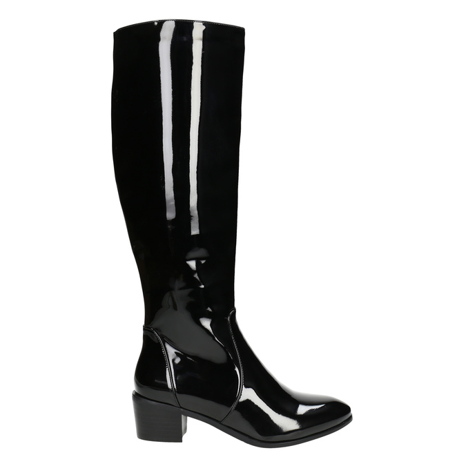 Ladies' high boots bata, black , 691-6631 - 15