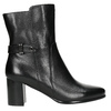 Leather ankle boots with heels bata, black , 696-6648 - 15