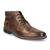Men's leather ankle boots, brown , 826-3611 - 13