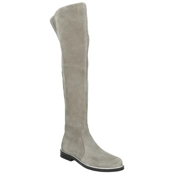 Grey over-knee high boots bata, gray , 593-2605 - 13