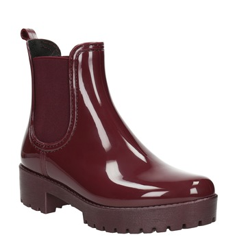 Ladies' Ankle-High Wellington Boots bata, red , 592-5400 - 13