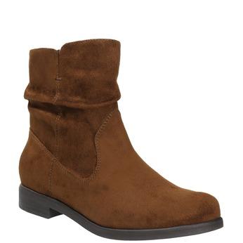 Ladies' ankle boots bata, brown , 599-3614 - 13