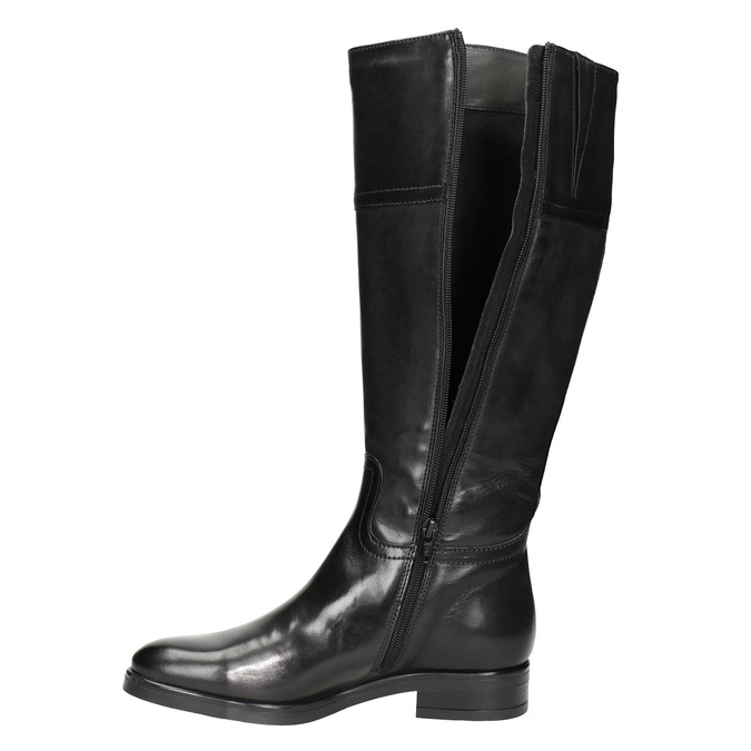 Ladies´ leather Cossacks bata, black , 594-6606 - 15