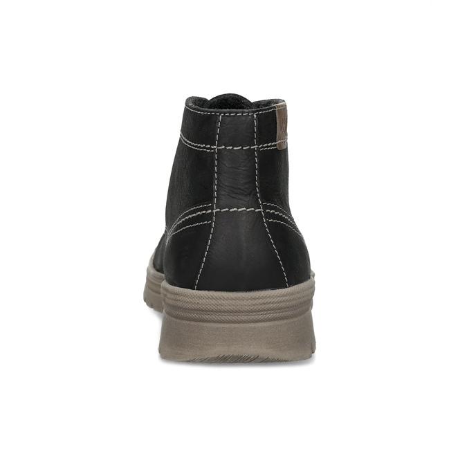 Men's leather winter boots, black , 896-6107 - 15