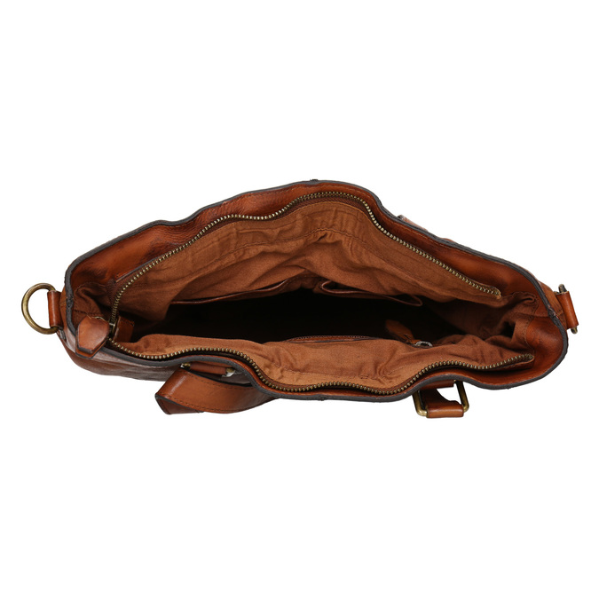 Ladies' Leather Handbag, brown , 964-3245 - 15