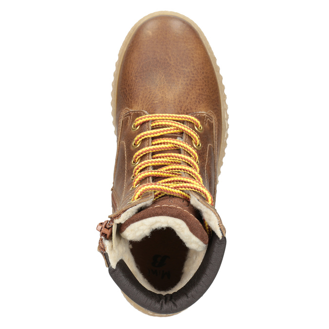 Children's Brown Winter Boots mini-b, brown , 496-4620 - 15