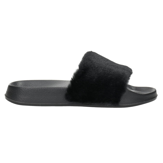 Ladies' black slippers north-star, black , 579-6624 - 26