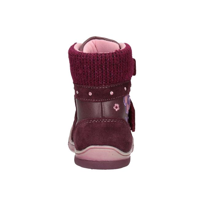 Children's leather winter boots bubblegummer, red , 124-5602 - 16
