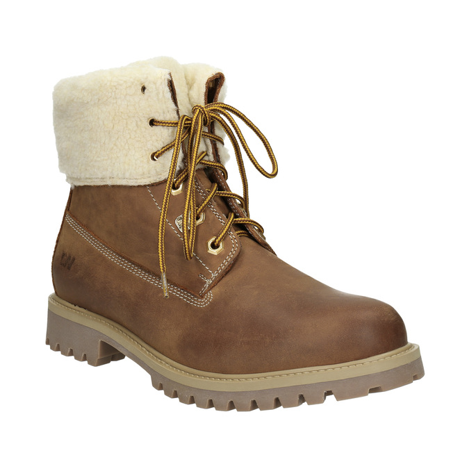 Men's Ankle Boots with Fleece weinbrenner, brown , 896-4670 - 13